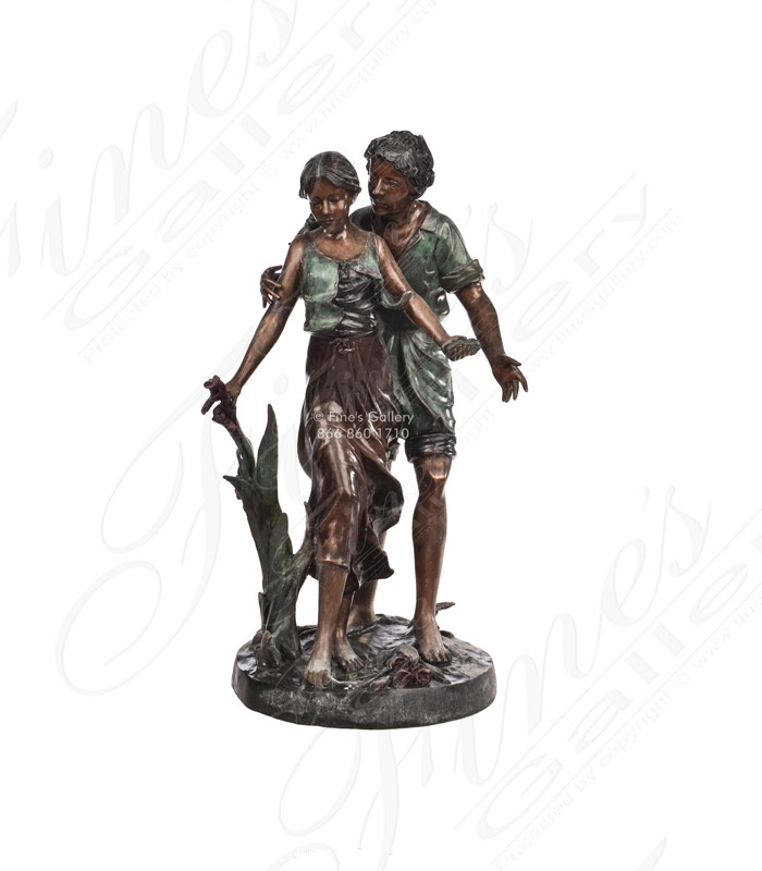 Young Lovers Bronze Statue