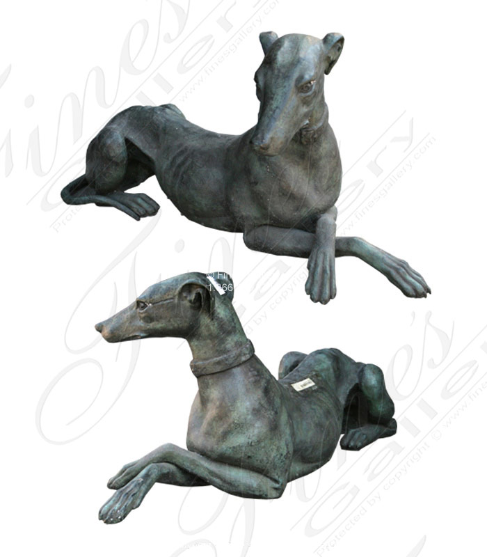 Bronze Statues  - Greyhound Resting - BS-230