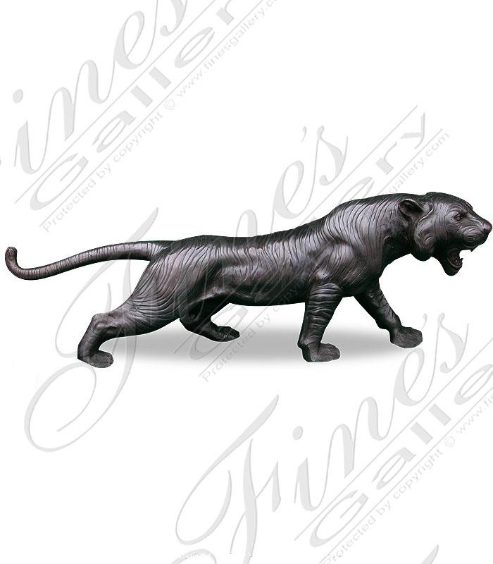 Bronze Statues  -  Vigilant Leopard  - BS-183
