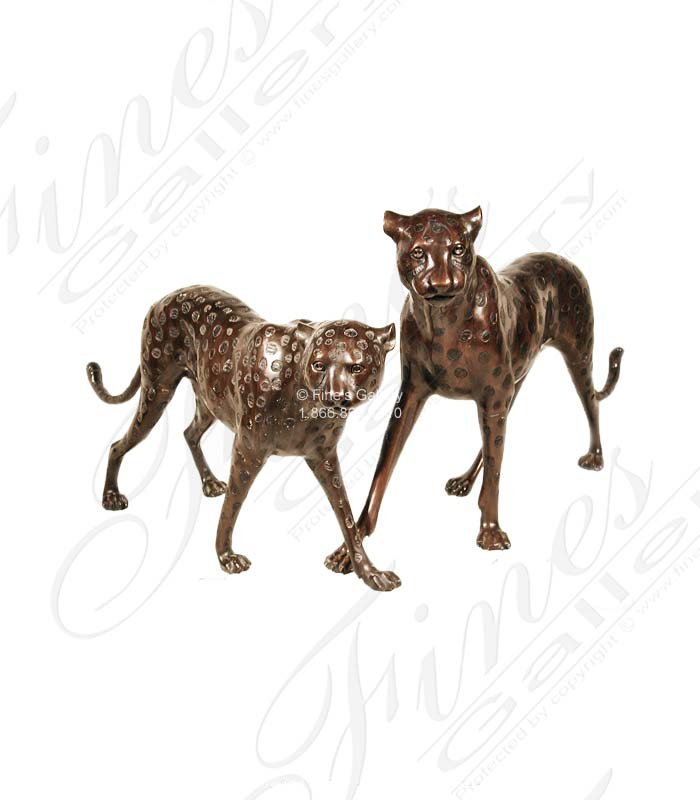 Bronze Statues  - Bronze Leopard Statue - BS-284