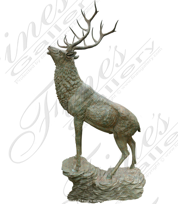 Bronze Statues  - Majestic Bronze Deer - BS-1214