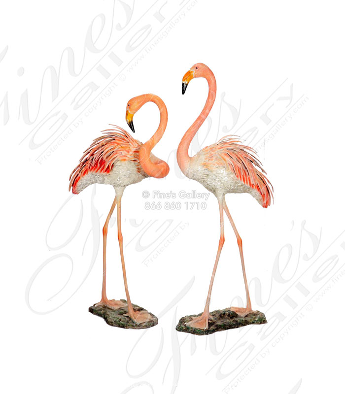 Bronze Statues  - Two Cranes Bronze Statue - BS-1082