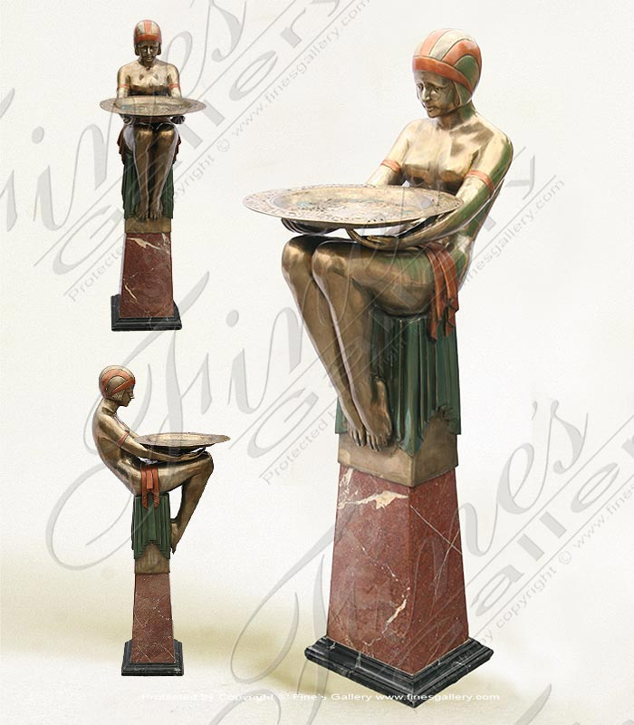 Bronze Planters  - Gold Colored Bronze Vase - BP-1187
