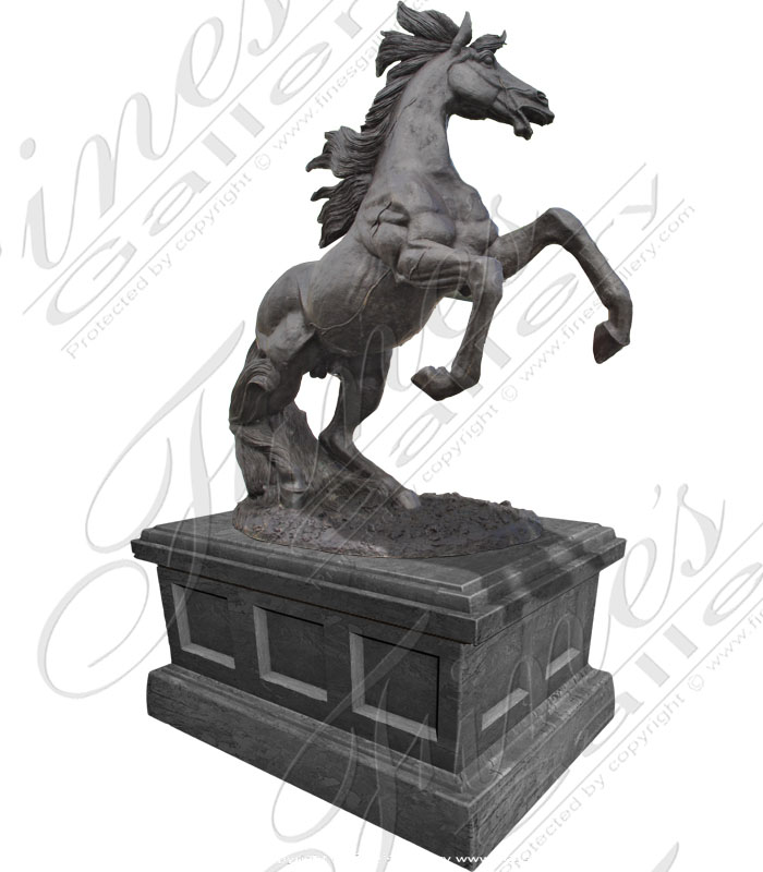Bronze Statues  - Black Stallion - BS-483