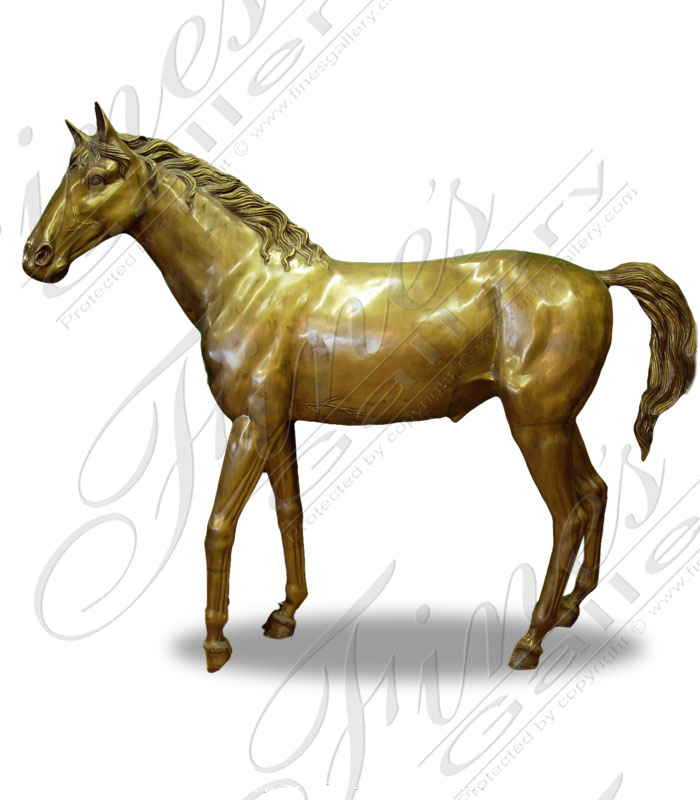 Bronze Statues  - Mare With Foal Bronze Statue - BS-170