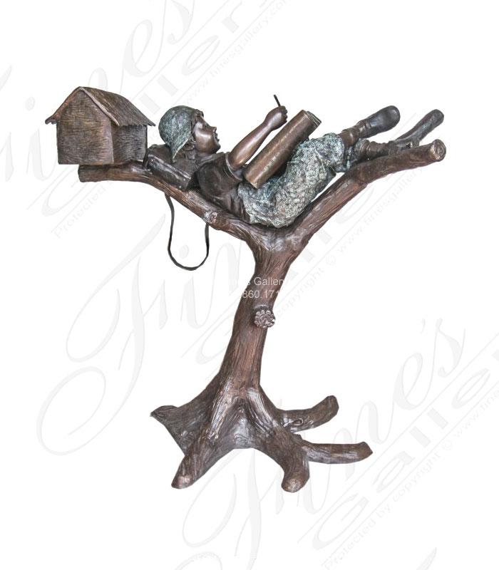 Bronze Boy in Tree Mailbox!