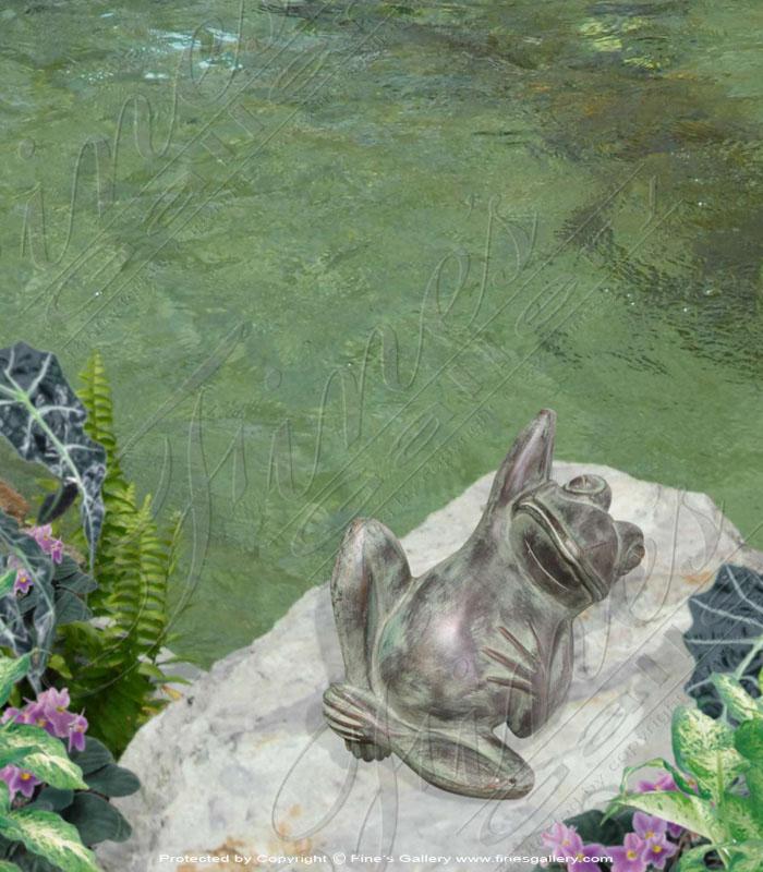 Patina Bronze Frog Statue
