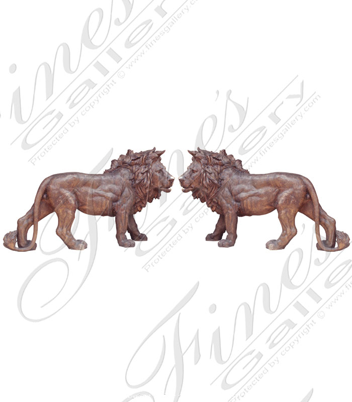 Bronze Statues  - Twin Lions - BS-651