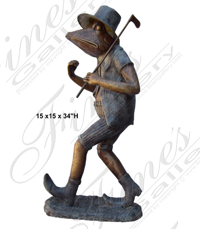 Bronze Statues  - Going To The Ninth Hole - BS-652