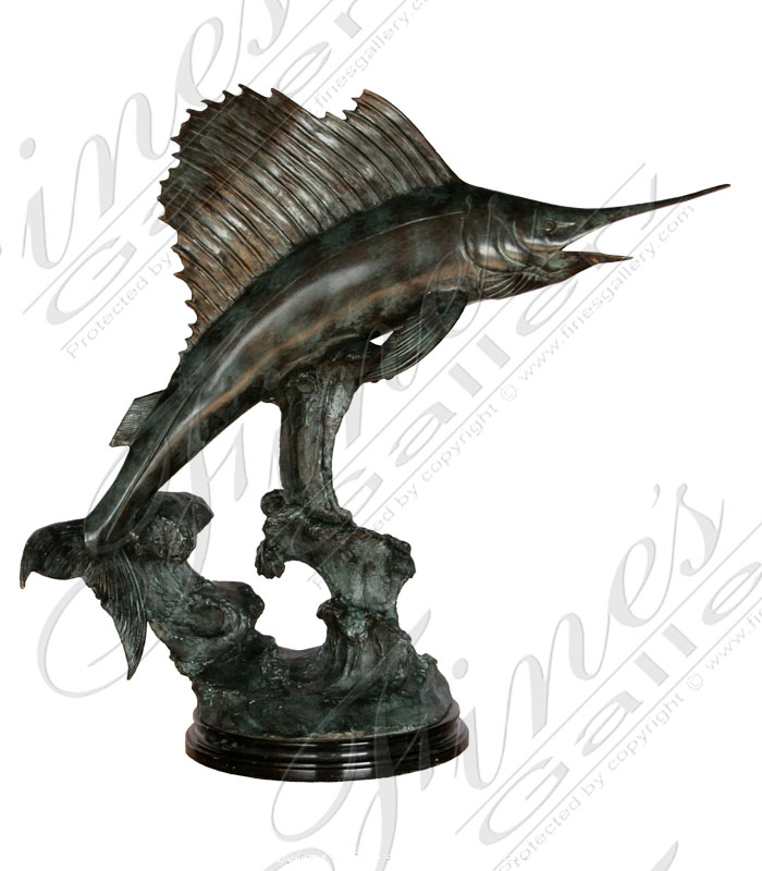 Bronze Statues  - Bronze Sailfish Statue - BS-823