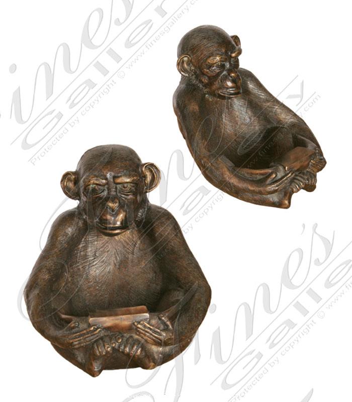 Bronze Statues  - Bronze Monkey Bowl - BS-837
