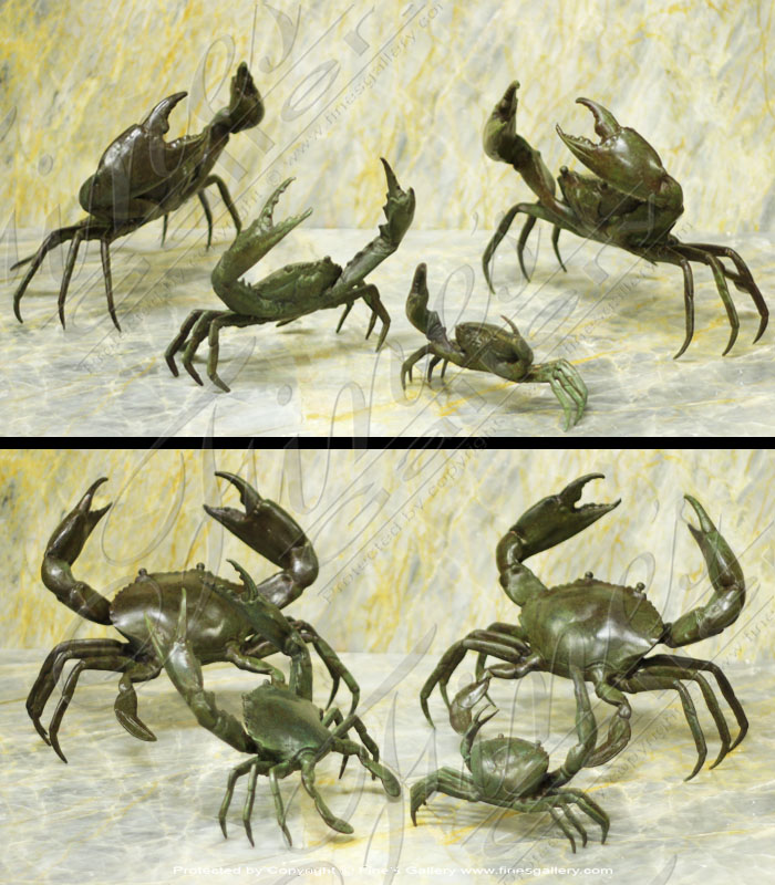 Bronze Crab Statue