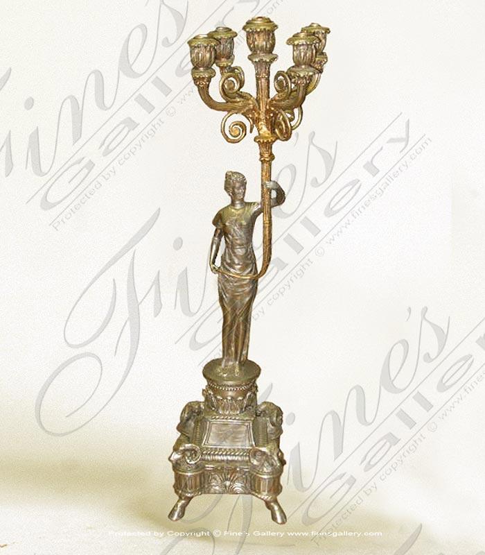 Bronze Statues  - Bronze Candelabrum Statue - BS-898