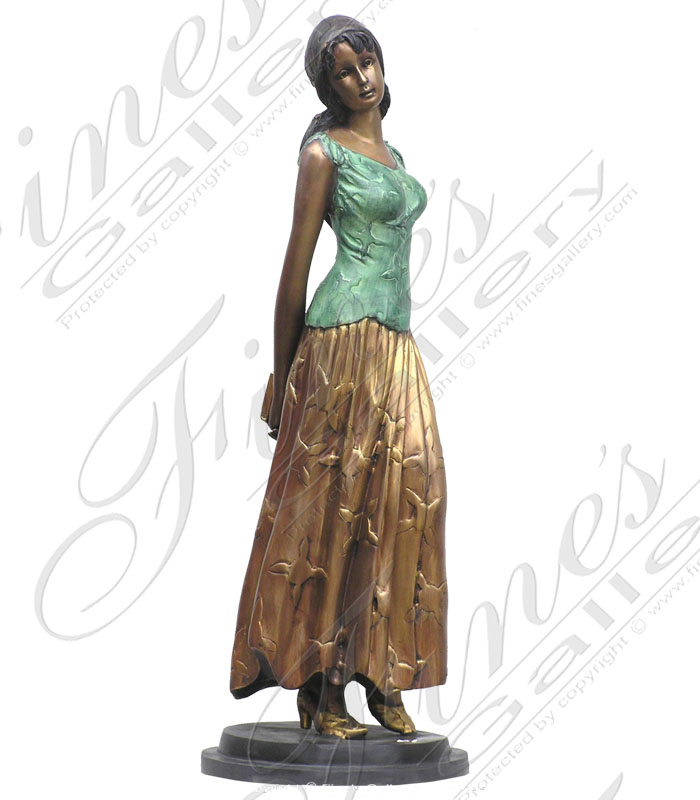 Bronze Statues  - Gentle Bronze Maiden - BS-922
