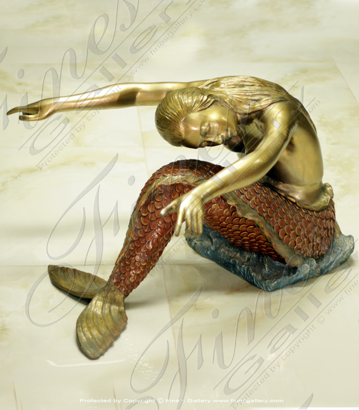 Bronze Mermaid Table ...