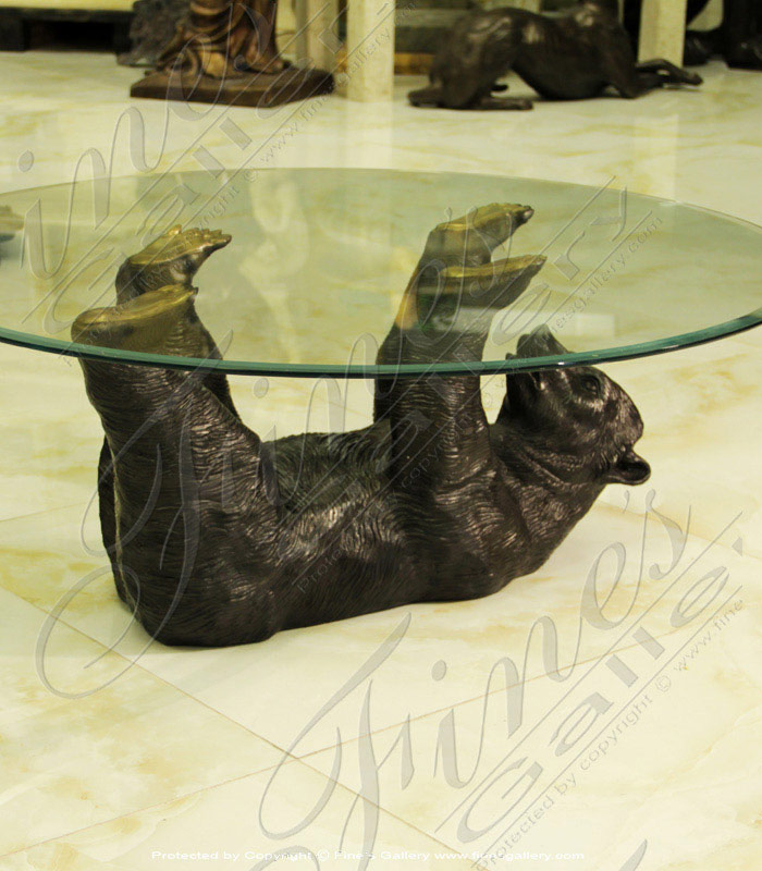 Bronze Tables  - Bronze Playful Bear Table - BT-113