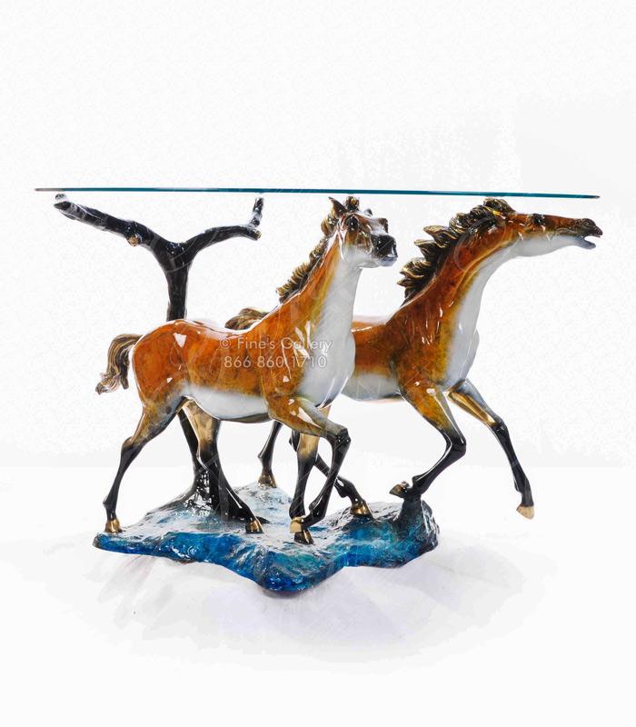 Bronze Horses Table