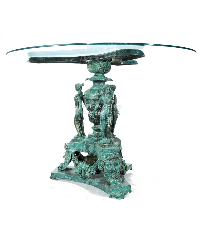 Patina Colored Bronze Table