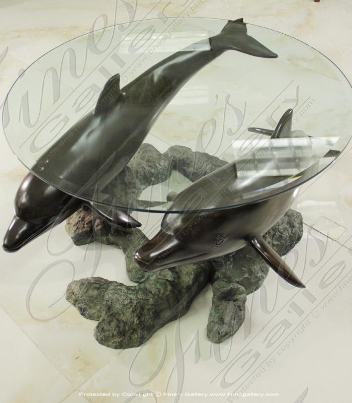 Bronze Tables  - Bronze Sea Turtle Table Base - BT-170