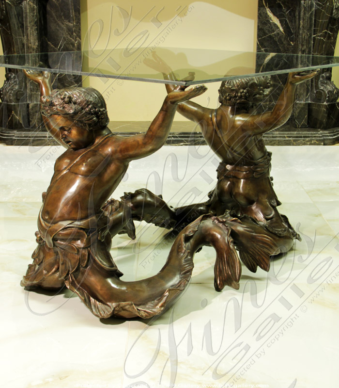 Young Children Bronze Table
