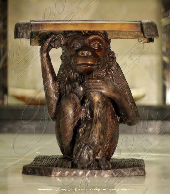 Bronze Tables  - Bronze Monkey Table - BT-164