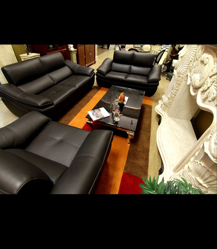 Furniture Italian Leather 3pc and RUG