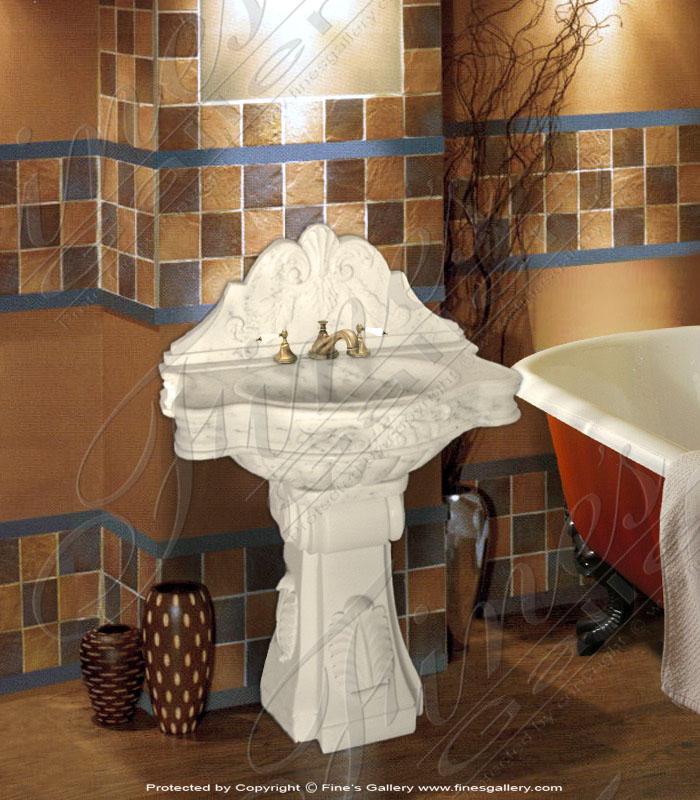 Marble Kitchen and Baths  - White Carrara Marble Sink - KB-032
