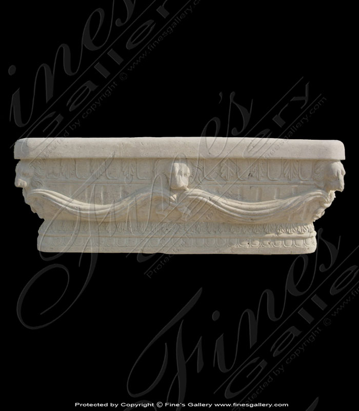 Marble Kitchen and Baths  - Ornate Lion Head Marble Tub - KB-036