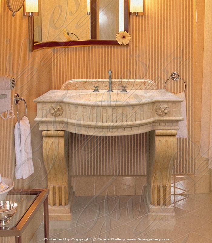 Marble Kitchen and Baths  - Golden Marble Sink - KB-051