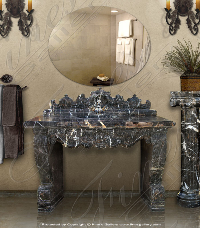 Marble Kitchen and Baths  - Emperor Marble Vanity - KB-089