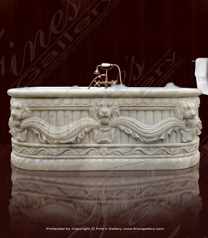 Marble Kitchen and Baths  - Majestic Lion Marble Bathtub - KB-108