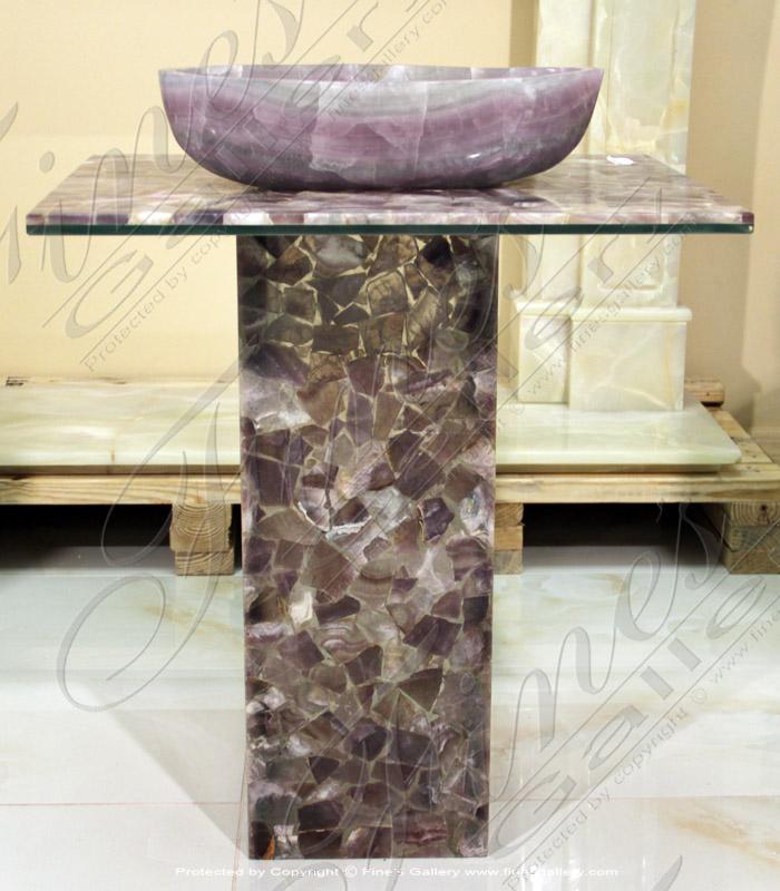 Marble Kitchen and Baths  - Simple Elegance Onyx Sink - KB-140