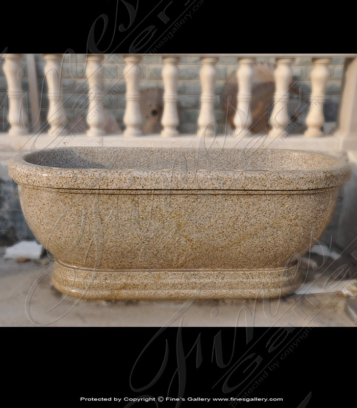 Marble Kitchen and Baths  - Solid Granite Tub - KB-157