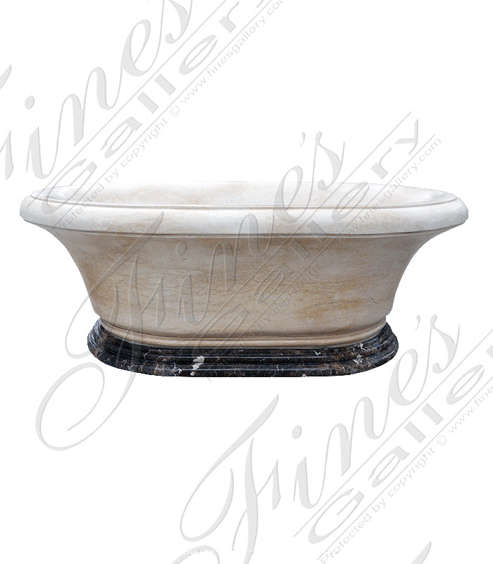 Marble Kitchen and Baths  - White Marble Tub - KB-033
