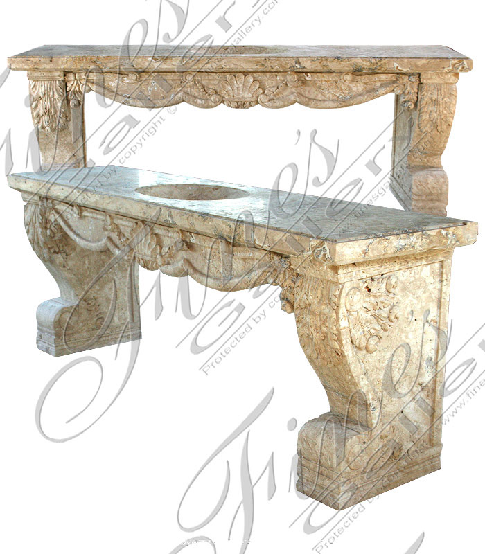 Marble Kitchen and Baths  - Elongated Travertine Sink - KB-165