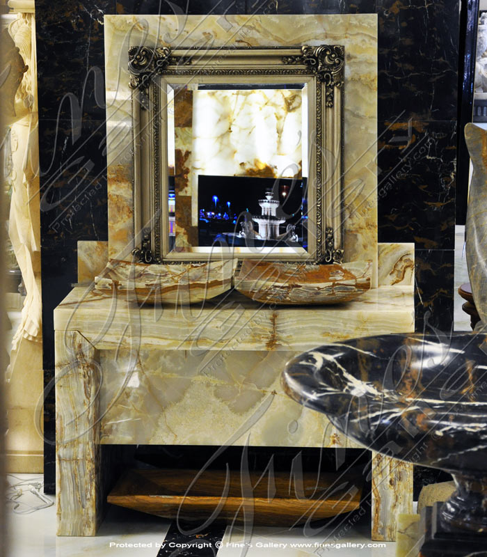 Marble Kitchen and Baths  - Modern Luxury Onyx Sink - KB-145