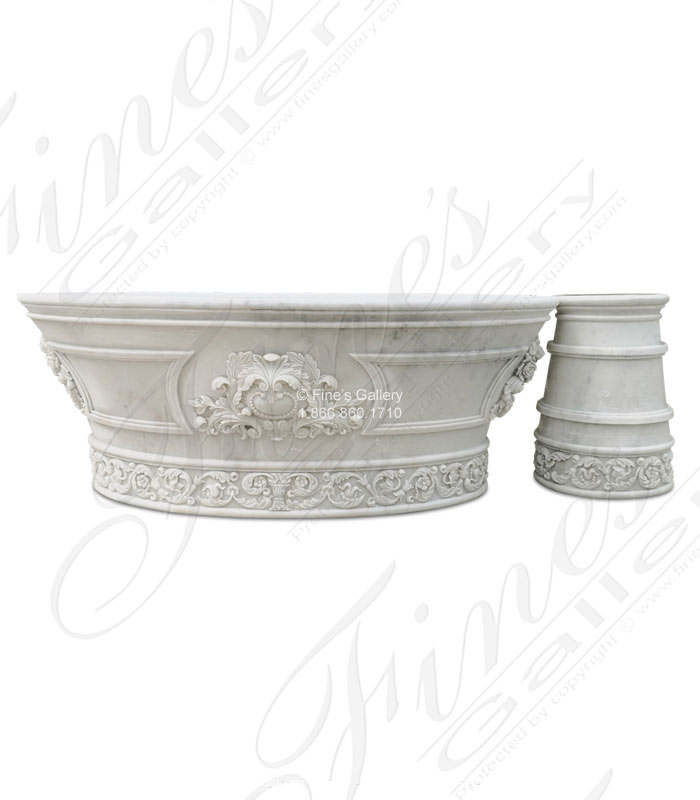 Ornate Hand Carved Marble Tub