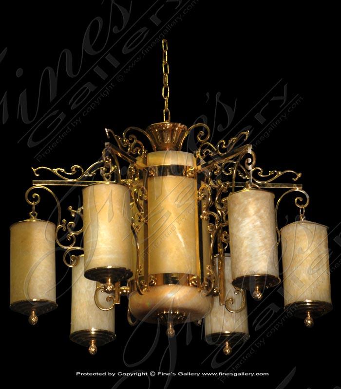 Lighting Chandeliers  - Onyx Cylinder Design Chandelier - LC-146