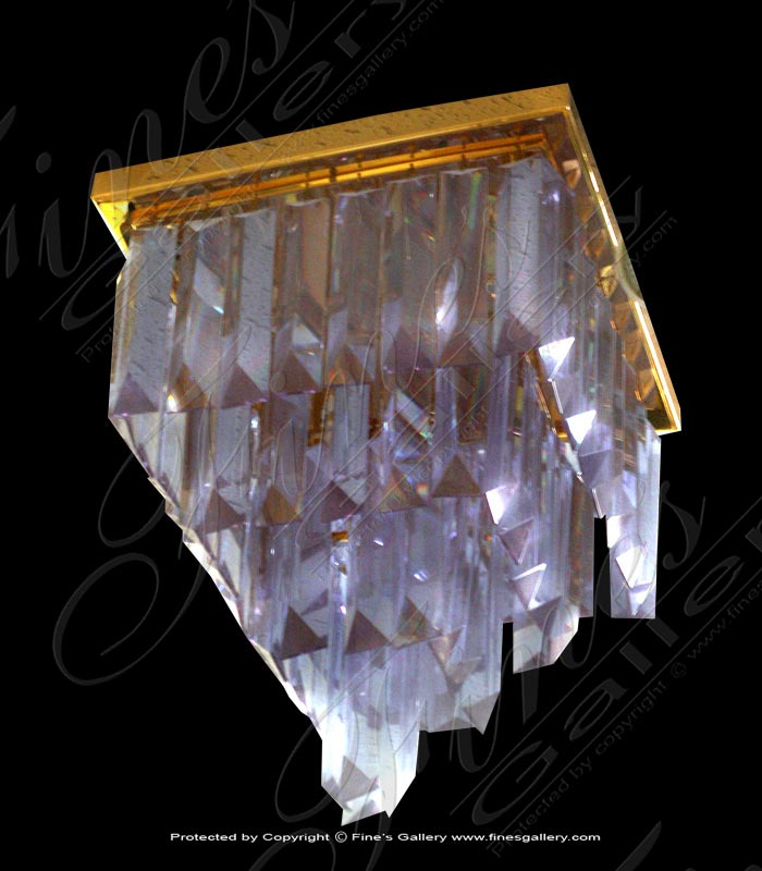 Lighting Chandeliers  - Rectangular Crystal Chandelier - LC-149