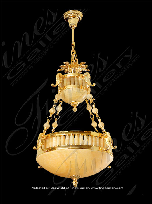 Lighting Chandeliers  - Gold Colored Chandelier - LC-245