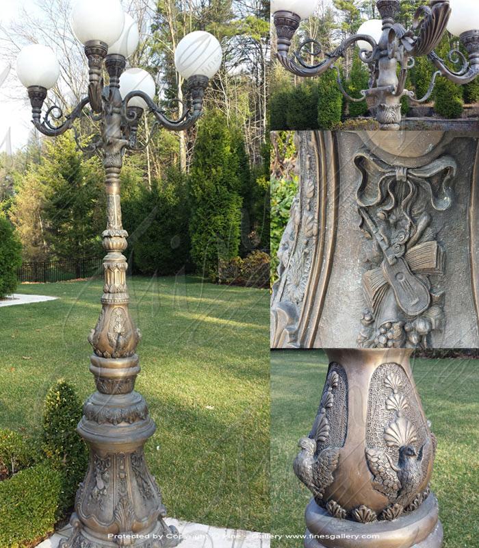 Lighting Lamposts  - Bronze Lamp Post - LMP-001