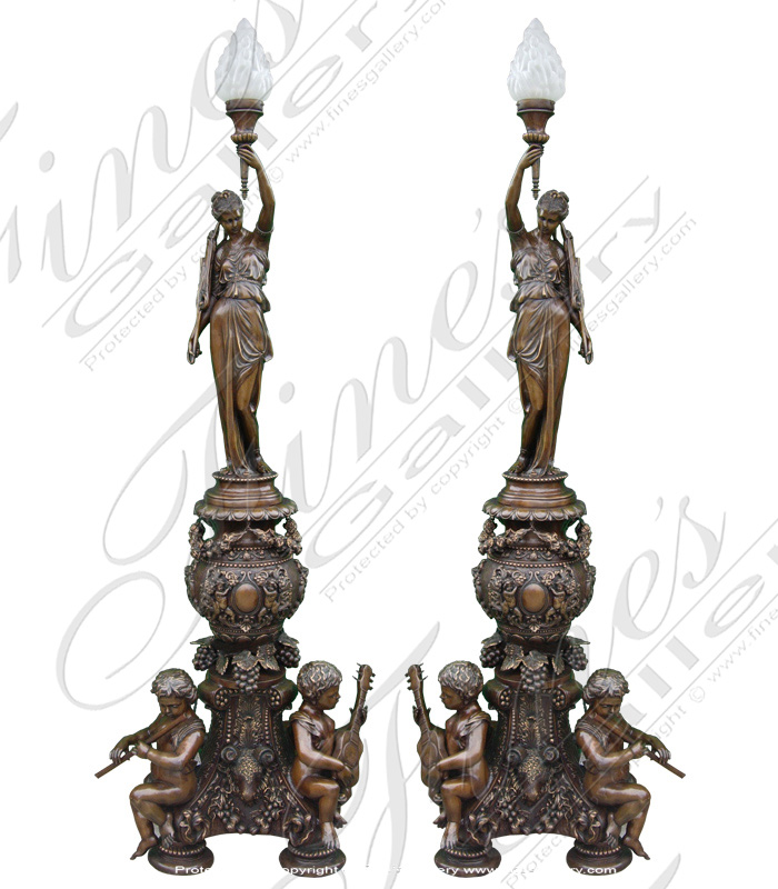 Lighting Lamposts  - Ornate Bronze Lampost - LMP-002