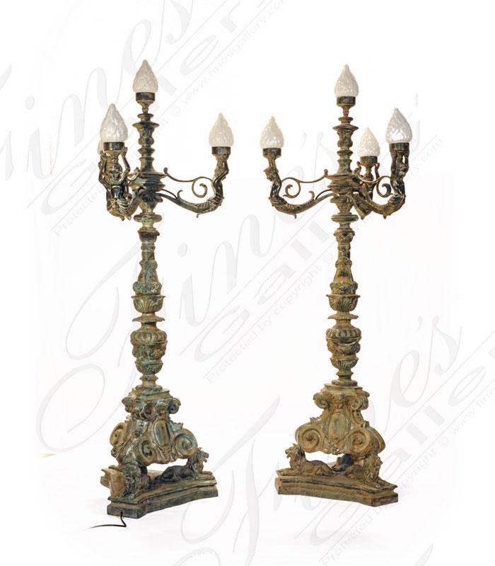 Antique Patina Lamp Post