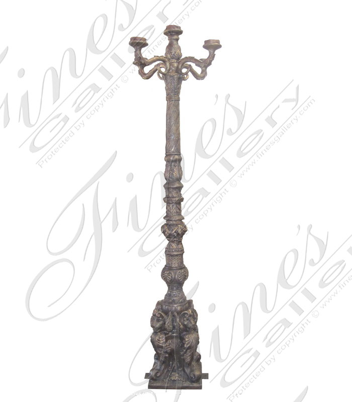 Lighting Lamposts  - Regal Bronze Lamp Post - LMP-030