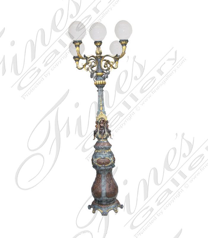Lighting Lamposts  - Euro Bronze Lampost - LMP-031