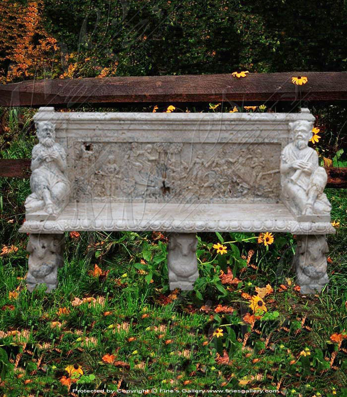 Marble Benches  - Greek Designs Marble Bench - MBE-107