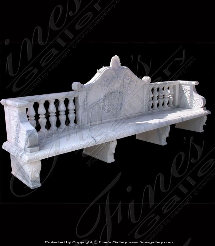 Marble Benches  - Green Marble Bench - MBE-110