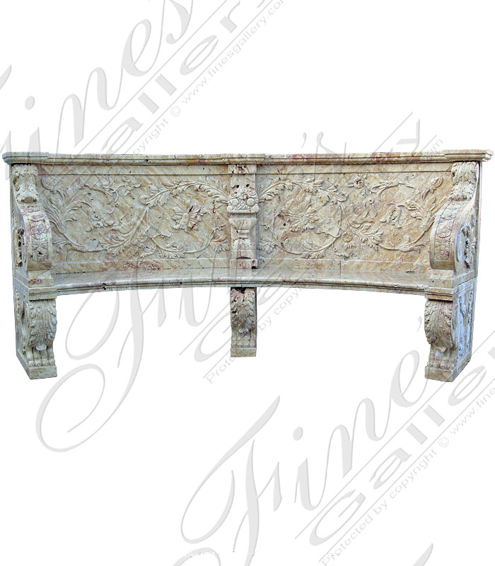 Marble Benches  - Calcium Marble Bench - MBE-120