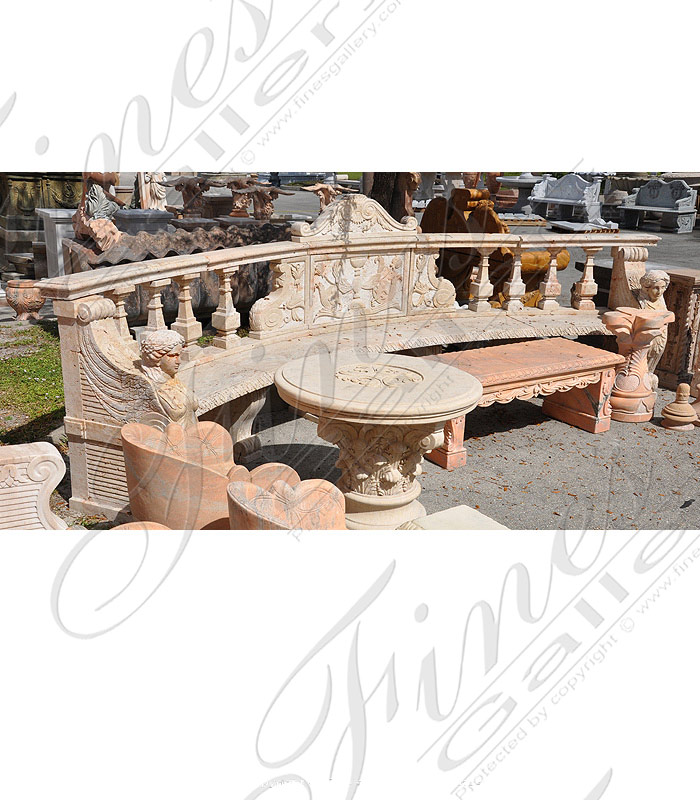 Marble Benches  - Luxurious Marble Bench - MBE-132