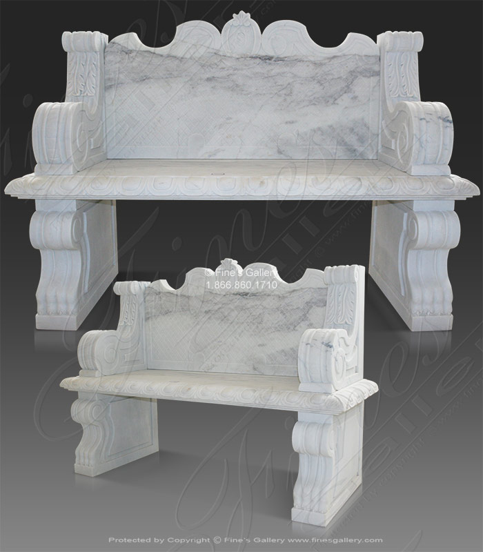 Marble Benches  - The Royal Marble Bench - MBE-130